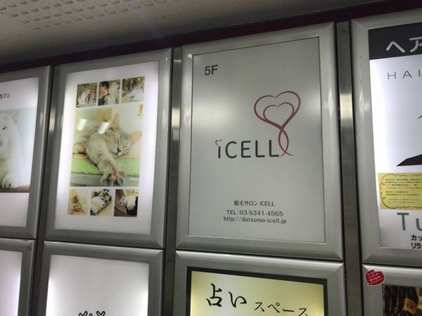 iCELLの看板